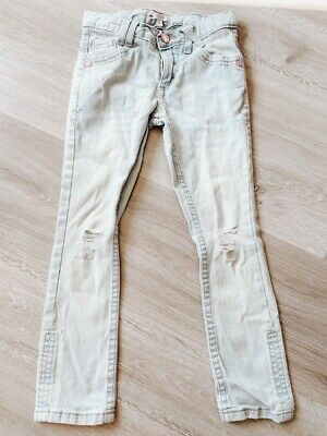 M&S LIMITED COLLECTION Ripped Knee Skinny Girls Jeans Trousers Age 6 years