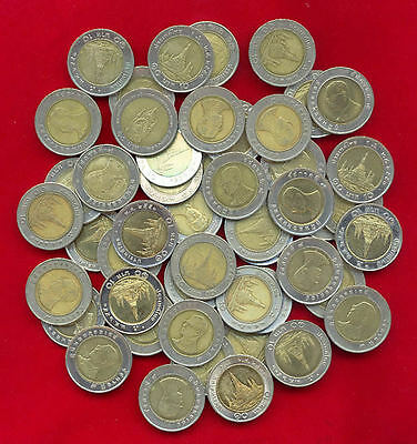 Thailand Bi-Metallic 10 Baht Lot Of 50 Coin Used Circulated Bimetal Mixed Date