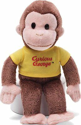 """8"""" Classic Curious George plush Yellow Shirt - NEW, by GUND!!"""
