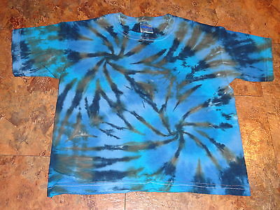 Hippie kids Tie dye dyed short sleeve tee 4T Toddler youth Heavy Cotton t-shirt