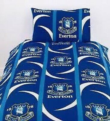 Everton FC Single Duvet & Pillow Case Set Official Bedding New Sealed Packing