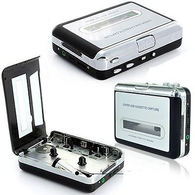 Tape to PC USB Cassette-to-MP3 Converter Capture Adapter Audio Music Player UK
