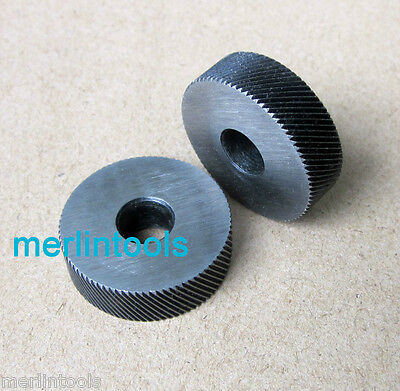 Knurling Wheels Pair Knurl Right Left Course D. 26mm