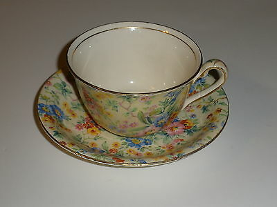Royal Winton Chintz Cup & Saucer Set Floral Feast Pattern 1930