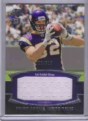 2011 topps prime KYLE RUDOLPH jumbo JERSEY # 222/318 sp