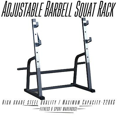 Commercial Squat Rack Stand Gym Exercise Equipment Station 7FT barbell