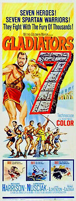 GLADIATORS 7 1962 Richard Harrison SPARTA US 14x36 POSTER