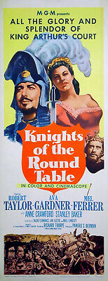 KNIGHTS OF THE ROUND TABLE 1953 Robert Taylor Ava Gardner US 14x36 POSTER