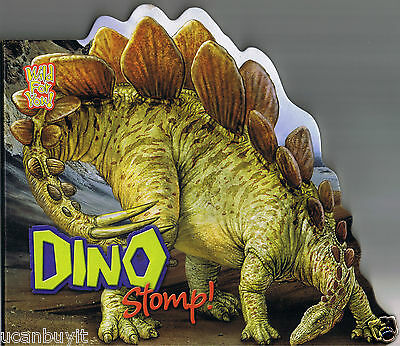 Wild For You DINO STOMP! Die-Cut Dinosaur Beginners Board Book Ages 3+  NEW!