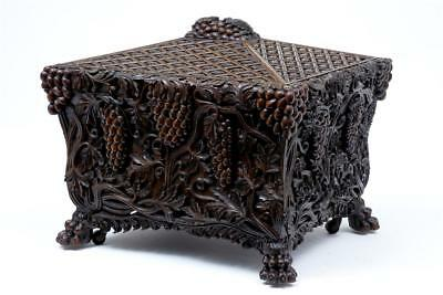 19Th Century Antique Heavily Carved Walnut Wine Cooler