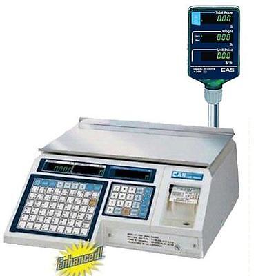 CAS LP-1000NP Label Printing Scale with Pole gal for Trade  30 x 0.01 lb