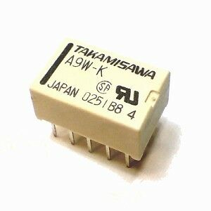 Takamisawa Relay A9W-K 9V 2A 2 Form C DPDT DIP