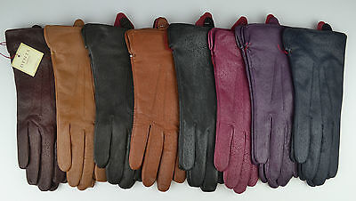Dents Ladies Jessica Peccary Leather Gloves pink,purple,black,navy,brown,cognac