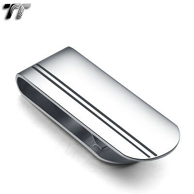 Top Quality T&T 316L Stainless Steel Money Clip Silver (MC14)