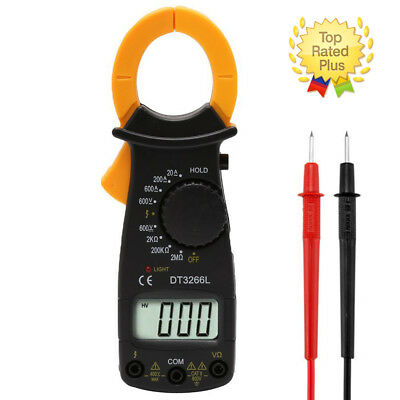 Digital Electronic AC DC Voltage Clamp Meter Multimeter Current Volt Tester+Lead