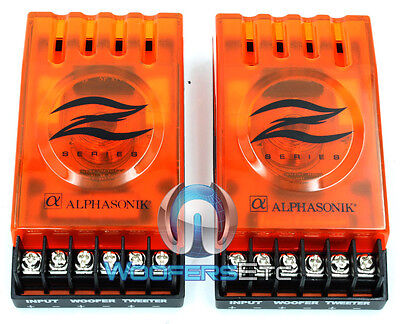 (2) Orange 2-Way Passive Crossovers For Car Stereo + Home Audio Mid Speakers New