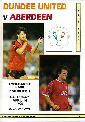 1990 SCOTTISH CUP SEMI-FINAL - DUNDEE UNITED v ABERDEEN