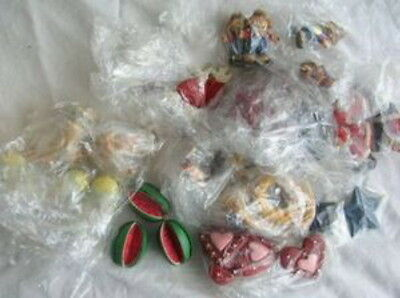 Box Of Multiple Holiday Resin Figures Christmas Etc