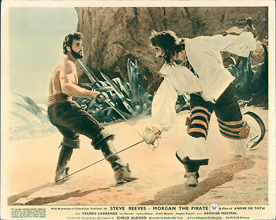 Morgan The Pirate Steve Reeves Armand Mestral Original Barechested Lobby Card