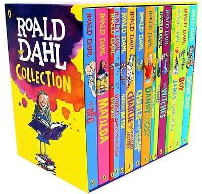 Roald Dahl 15 Book Collection Gift Set Pack Children's Charlie chocolate Factory