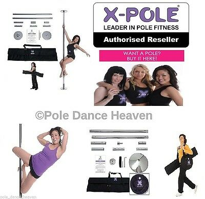 The X-Pole Dance Range - Titanium Gold, Chrome or Brass in 40mm, 45mm and 50mm