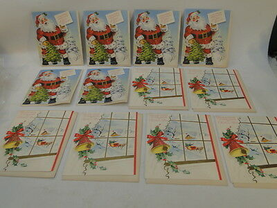 VINTAGE 50s UNUSED CHRISTMAS GREETING CARDS TO SEND~LOT of 12 FROM OUR HOUSE cc