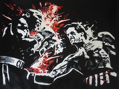Rocky 40x28 in Oil Painting. NOT print,poster or giclee
