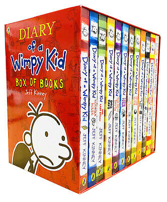Diary of a Wimpy Kid Collection 12 Books Box Set Pack (Red Box) Double Down