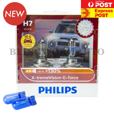 AUS VER PHILIPS H7 X-treme Vision Plus +130% Halogen Light bulbs extreme xtreme