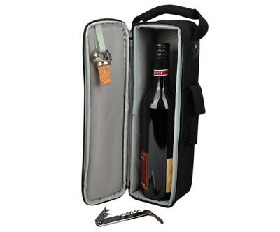 1 bottle cooler bag | Wine Gift Bag | Insulated | Corporate Gifts | BYO | Black