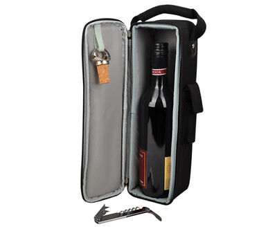 Insulated bottle cooler bag | Wine Gift Bag | Corporate Gifts | BYO | Black