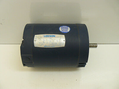 NEW LEESON 110437.00 MOTOR 3 PHASE 208-230/460 VOLT 3450 RPM 1.5 HP C6T34DC12C