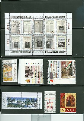 Vatican City 2011 Compete MNH Year Set