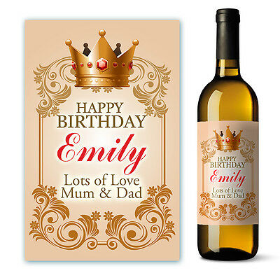 Personalised Happy Birthday Wine Label Gift