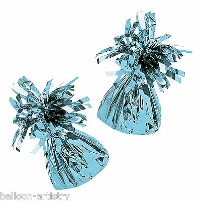10 x Pale Blue Foil Balloon Party Weights Ready Made