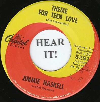 Jimmie Haskell TEEN INSTRO 45 (Capitol 5251) Theme For Teen Love/Hard Days Night