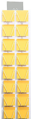 """Sixteen pocket wall rack display for CD's and 5.5"""" square greeting cards"""
