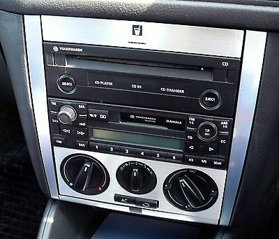 VW Golf Mk4 Jetta Bora Rabbit Brushed Aluminium Radio Console TDI GTI R32 VR6 01