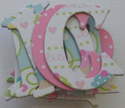 Basic Grey *CUPCAKE NOOK /& CRANNY* Chipboard Letters