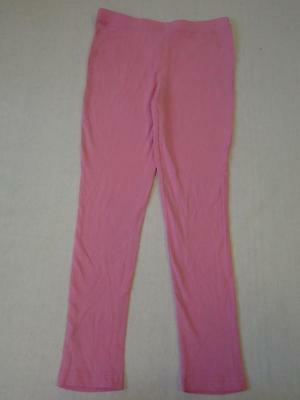 Girls Pink Full Length Stretch Leggings Trousers Age 10-11 years