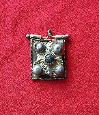 Rare Byzantine Silver Gold-Plated Pendant