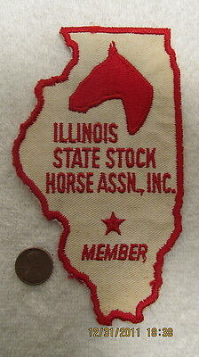 Vtg. Membership Patch Illinois Stock Horse Assn. 1960s