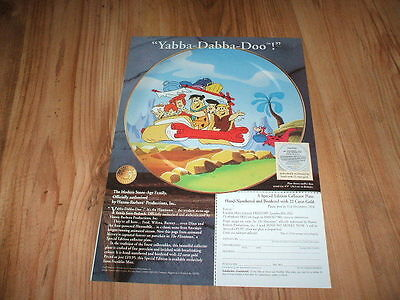 Flintstones collectors plate-1994 magazine advert