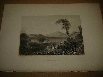 1833 Beautiful Engraving The Gulf Of Salamis Greece Hellas Engraved By Finden