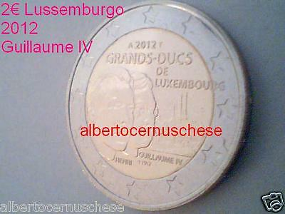 2 euro 2012 fdc UNC Luxembourg Luxemburg Lussemburgo Guglielmo IV Guillaume