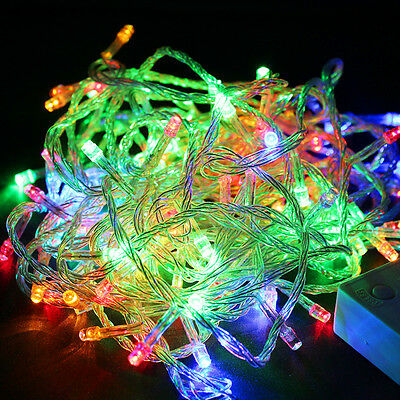 Hot Multi-color 10M 100-LED Christmas Fairy Party String Lights, Waterproof