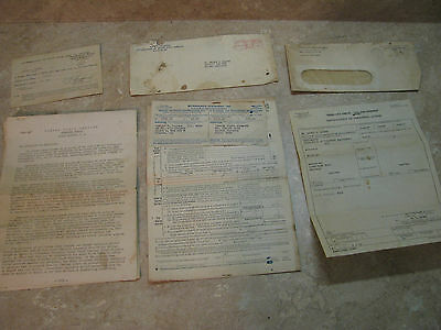 VINTAGE LETTERS/PAPERS Panama Canal 1953 Auth.to Leave/ WORK ORDER W2/EMPLOYMENT