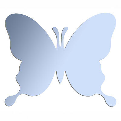 BUTTERFLY  Wall Mounted Acrylic Mirror - 12 inch - BLUE