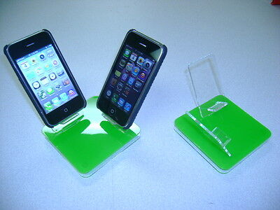 LOT 100 NEW STAND HOLDER CELL PHONE DISPLAY 2 in 1 GREEN