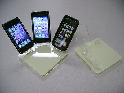 LOT 10 NEW STAND HOLDER CELL PHONE DISPLAY 3 in 1 OFF WHITE